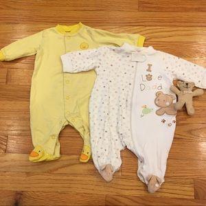 Carter's & Just One 3 Months Pajama Bundle